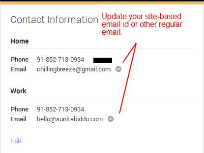 Sunita Biddu Authorship -  Email addition