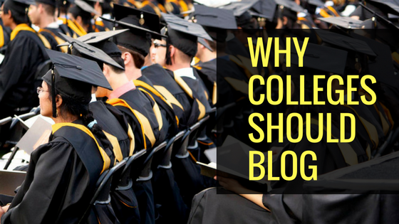 What colleges are missing out by not having a blog?