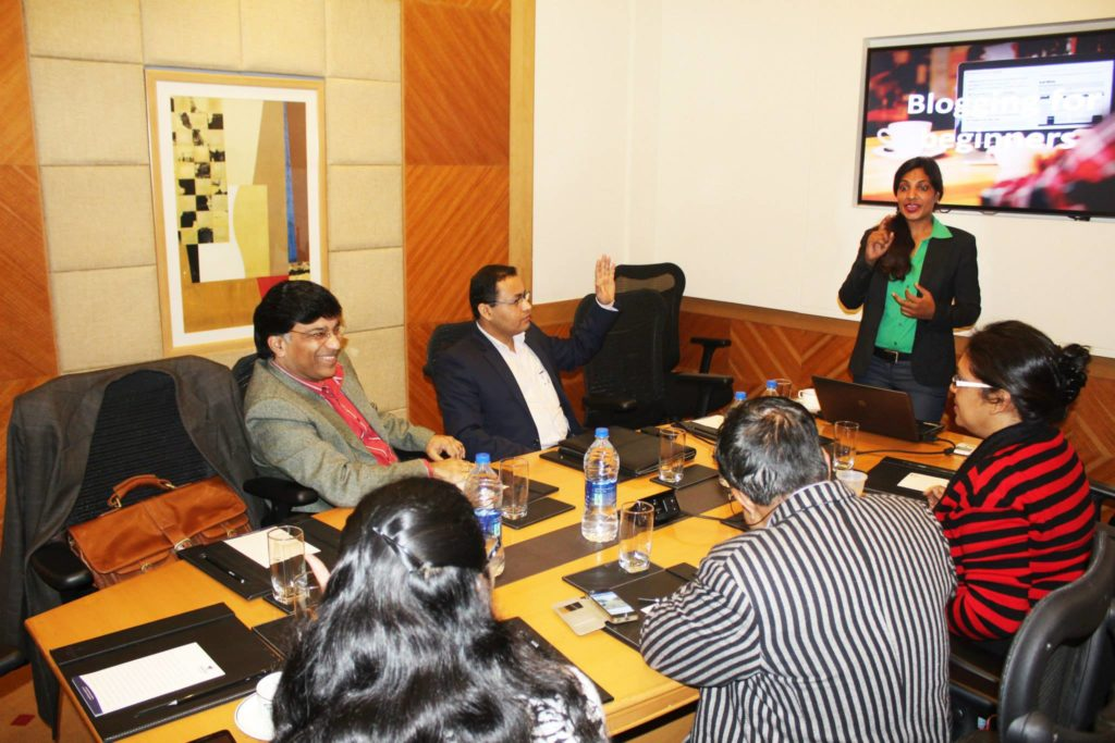 blogging training for entrepreneurs by sunita biddu