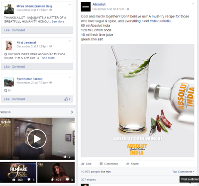 See how Absolut brand is engaging its fans