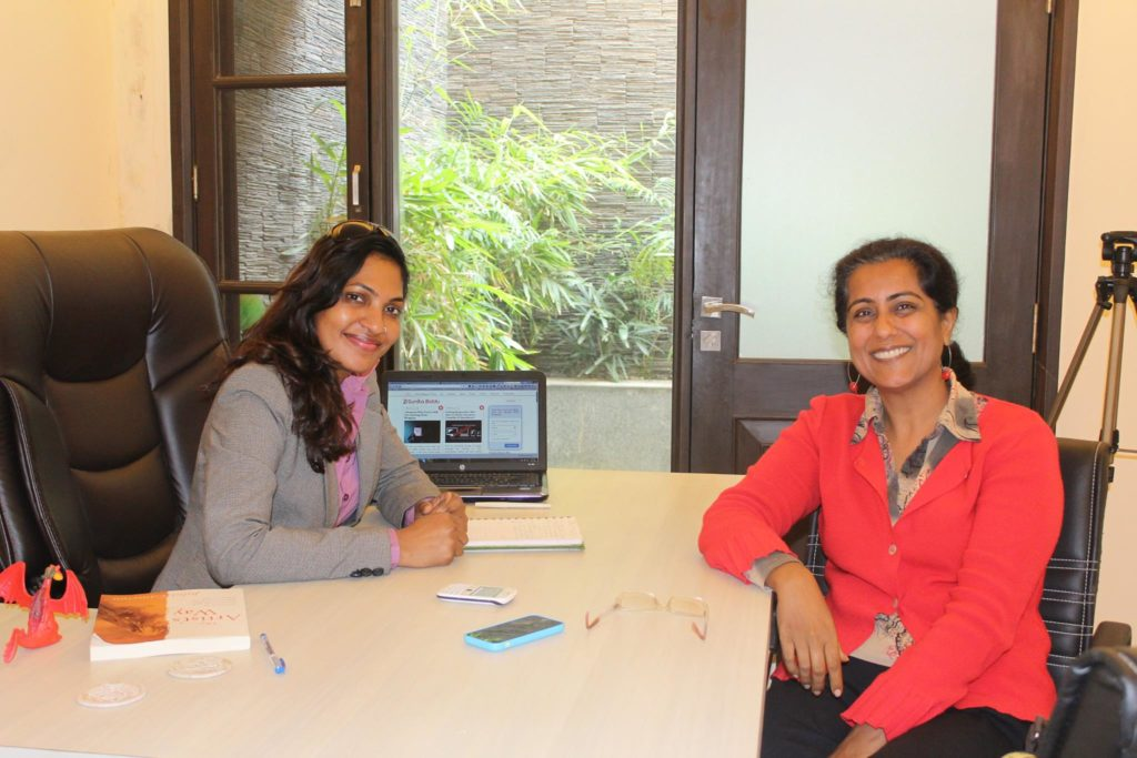 blogging training for nandini gulati health coach by sunita biddu